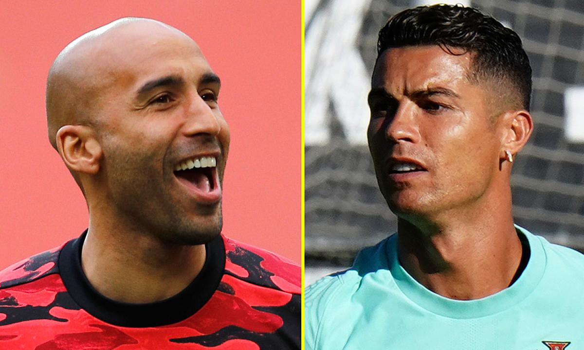 Grant (trái) cho rằng Ronaldo ảnh hưởng nhiều tới cầu thủ Man Utd, dù mới đến được khoảng một tuần. Ảnh: talkSport
