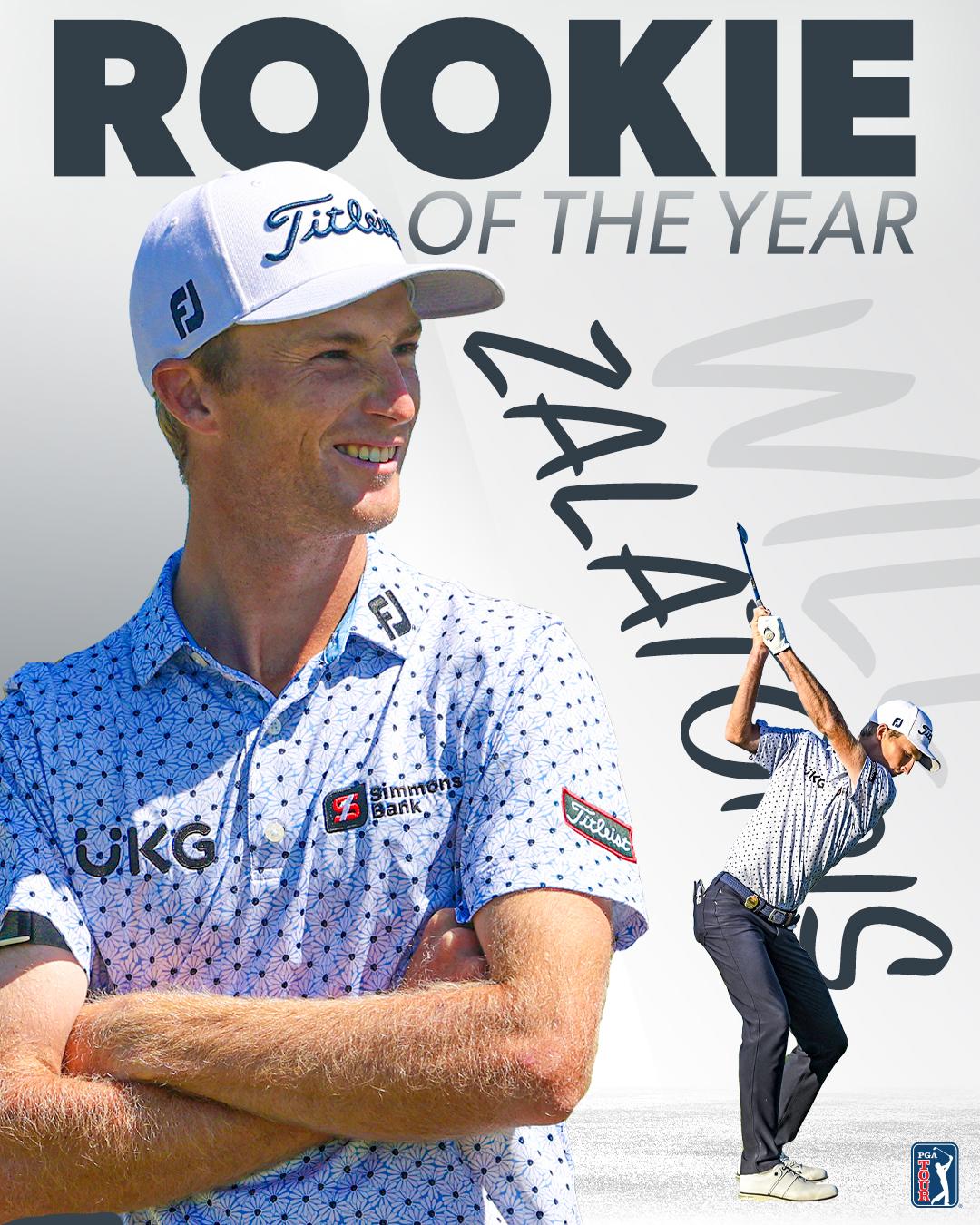 Giải dành cho Zalatoris - đấu thủ đạt thành tích nổi bật trong mùa chào sân - được quyết định bằng kết quả bỏ phiếu nội bộ thành viên PGA Tour. Ảnh: Twitter / PGA Tour