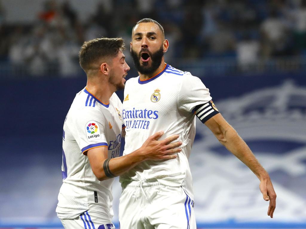 Benzema ghi năm bàn sau bốn trận đầu mùa. Ảnh: Marca