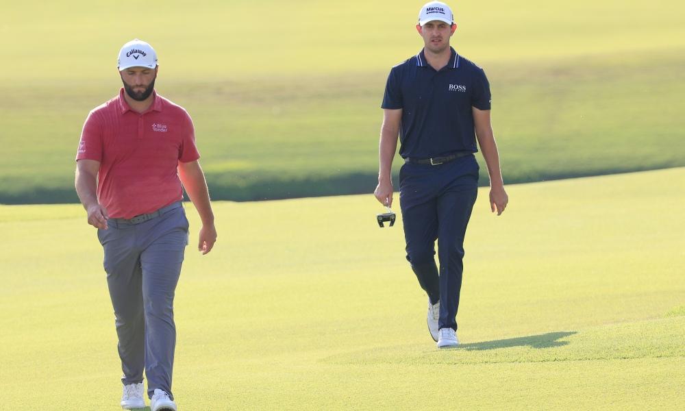 Rahm so kè quyết liệt với Cantlay trong giai đoạn cuối mùa, nhưng vẫn phải chấp nhận về sau đối thủ trong cuộc đua tranh danh hiệu cá nhân cao quý nhất năm của PGA Tour. Ảnh: AP
