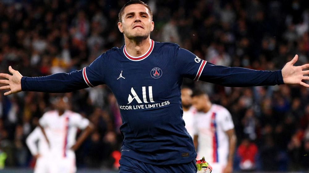 Icardi vào sân từ băng ghế dự bị và lập công, giúp PSG duy trì thành tích toàn thắng sau vòng 6 Ligue I. Ảnh: AFP
