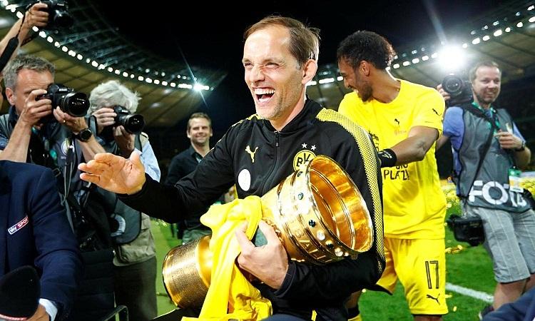Tuchel giúp Dortmund vô địch Cup quốc gia Đức 2016-2017. Ảnh: Reuters.