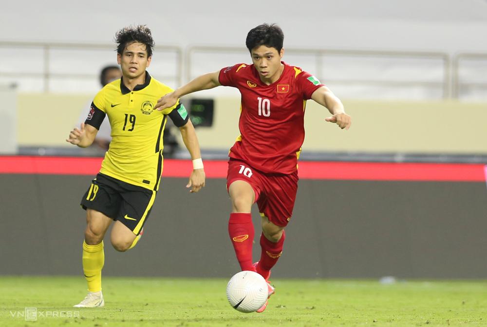 Việt Nam thắng Malaysia 2-1 vào tháng 6 vưa qua, tại lượt về vòng loại thứ hai World Cup 2022  - khu vực châu Á. Ảnh: Lâm Thoả