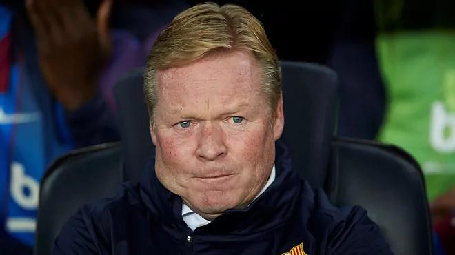 Koeman có thể phải rời ghế HLV Barca nếu đội bóng tiếp tục khủng hoảng. Ảnh: EFE.