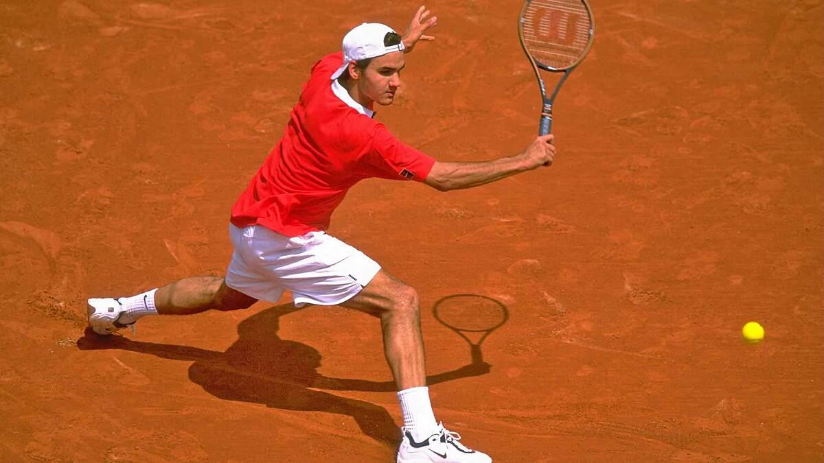 Federer vào năm 1998 khi ra mắt ATP ở tuổi 17 tại Gstaad. Ảnh: ATP