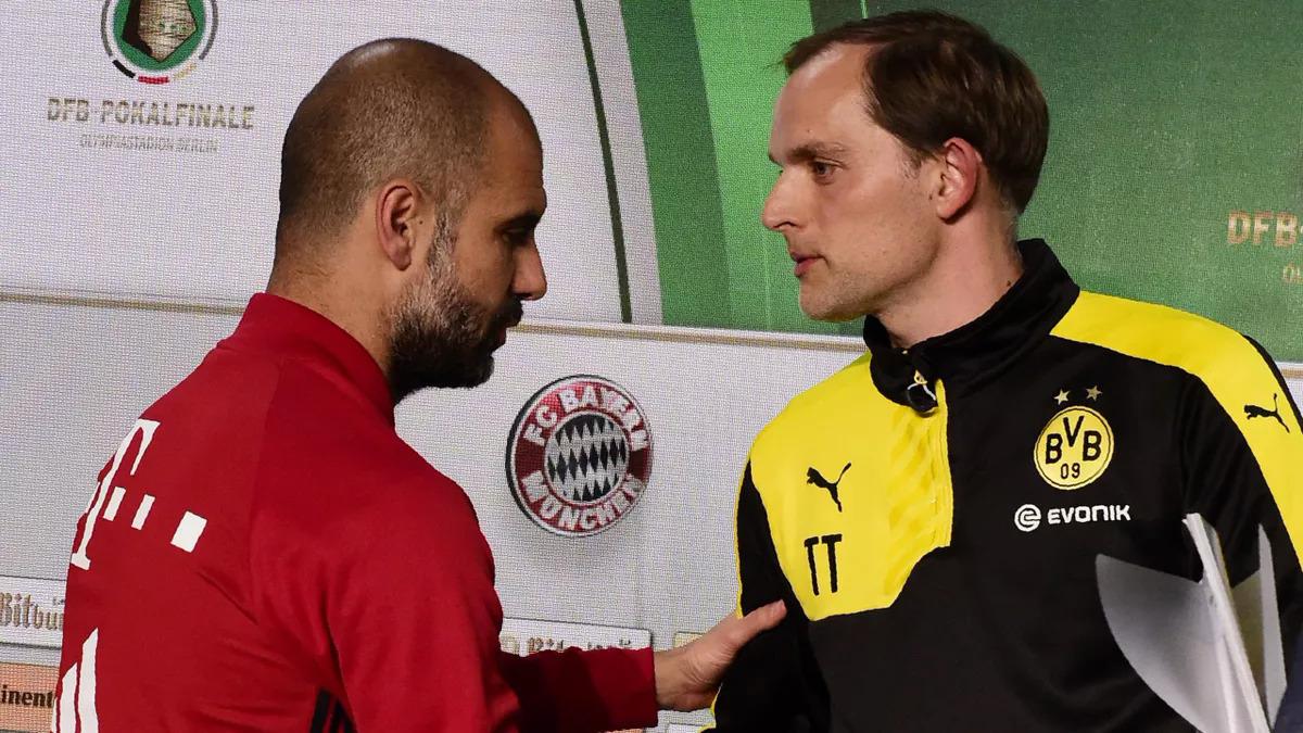 Tuchel mang tâm thế một đàn em phải học hỏi khi còn ở Đức dẫn dắt Mainz rồi Dortmund đối đầu Bayern hùng mạnh của Guardiola. Ảnh: AFP