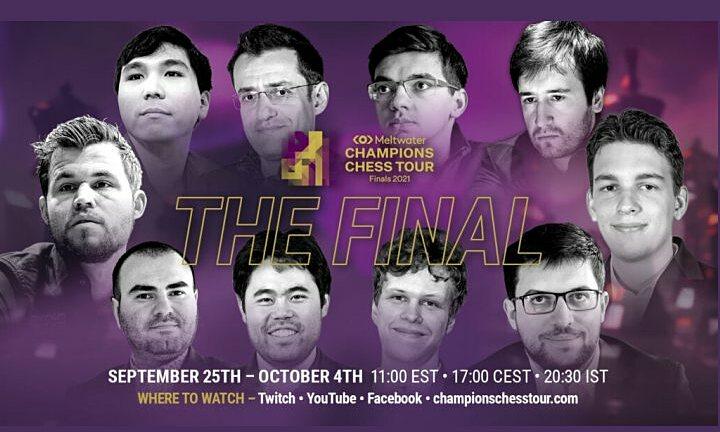 10 kỳ thủ dự Champions Chess Tour Final 2021. Ảnh: Chess24