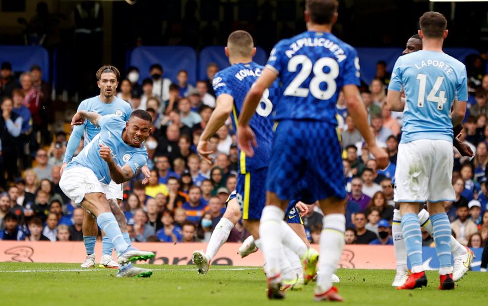 Jesus dứt điểm ghi bàn duy nhất của trận đấu ở phút 53. Ảnh: AFP