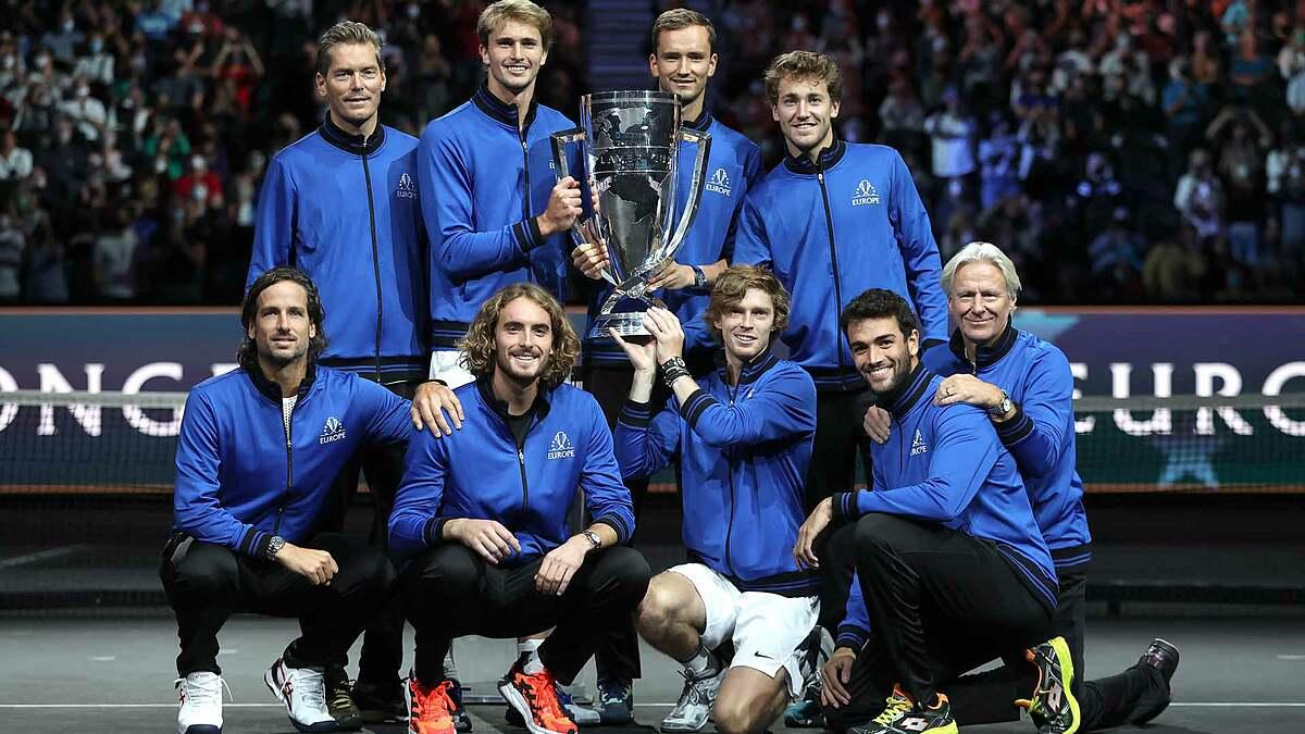 Tuyển châu Âu chỉ thua một trong chín trận Laver Cup 2021. Ảnh: ATP