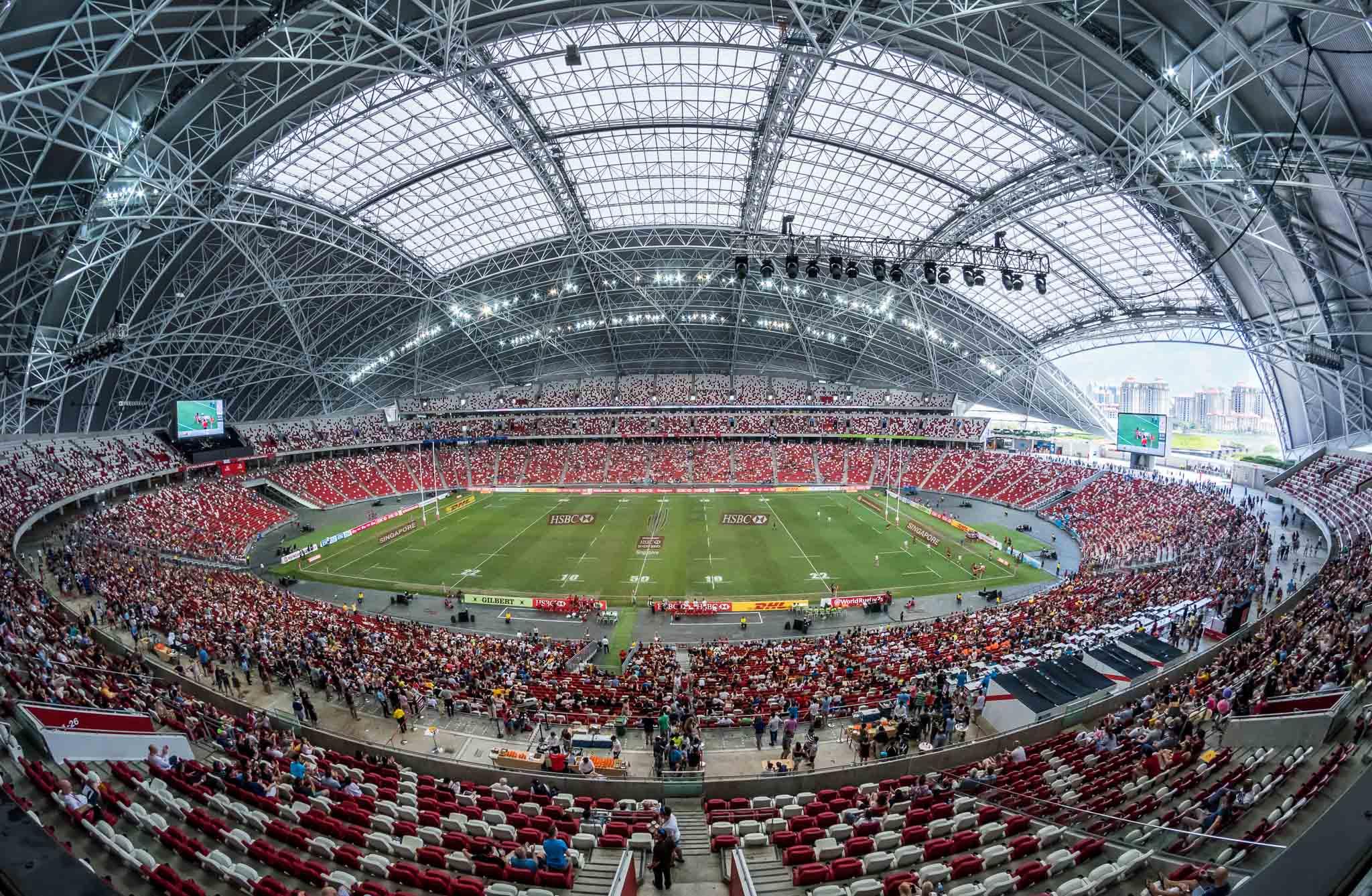 Sân vận động quốc gia Singapore, nơi sẽ tổ chức các trận đấu của bảng A và các lượt trận bán kết, chung kết AFF Cup 2020.