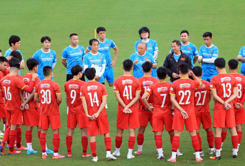 Tuyển Việt Nam đề ra mục tiêu có điểm trong trận đấu với Trung Quốc tại UAE. Ảnh: VFF