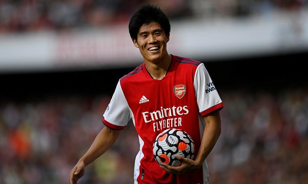 Tomiyasu hoà nhập nhanh hơn mong đợi ở Arsenal, giúp đội bóng thắng ba trận liên tiếp. Ảnh: Reuters
