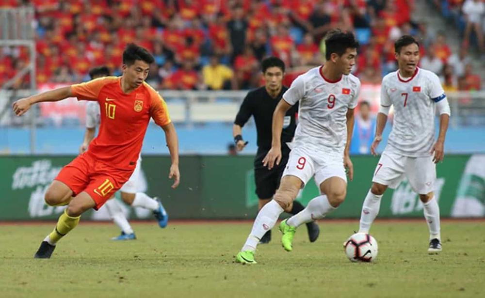 U22 Việt Nam từng thắng 2-0 khi tới giao hữu với Trung Quốc ngày 8/9/2019. Ảnh: Đoàn Huynh