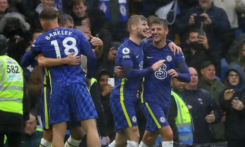 Werner ghi bàn đầu tiên tại Ngoại hạng Anh cho Chelsea mùa này. Ảnh: Reuters.