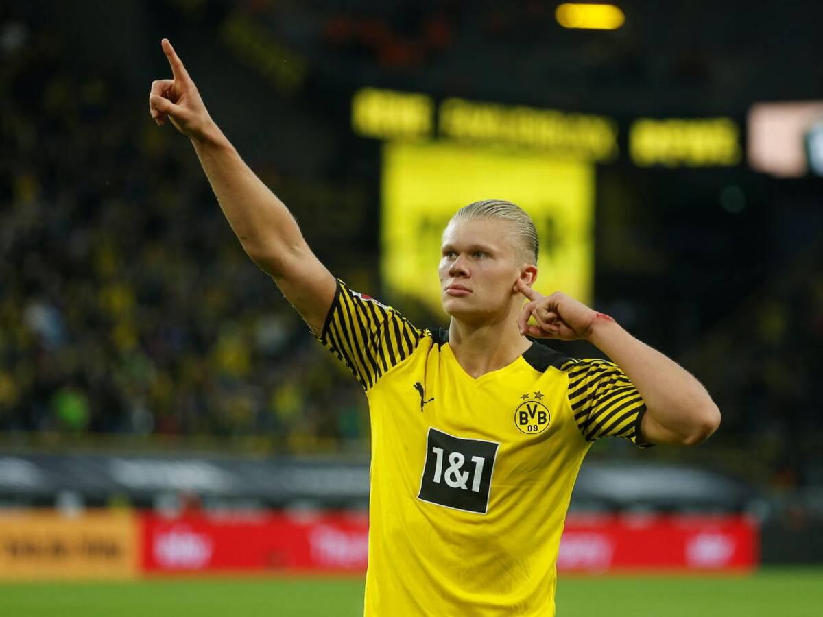 Haaland đang giữ tỷ lệ ghi mỗi trận một bàn cho Dortmund. Ảnh: Reuters.