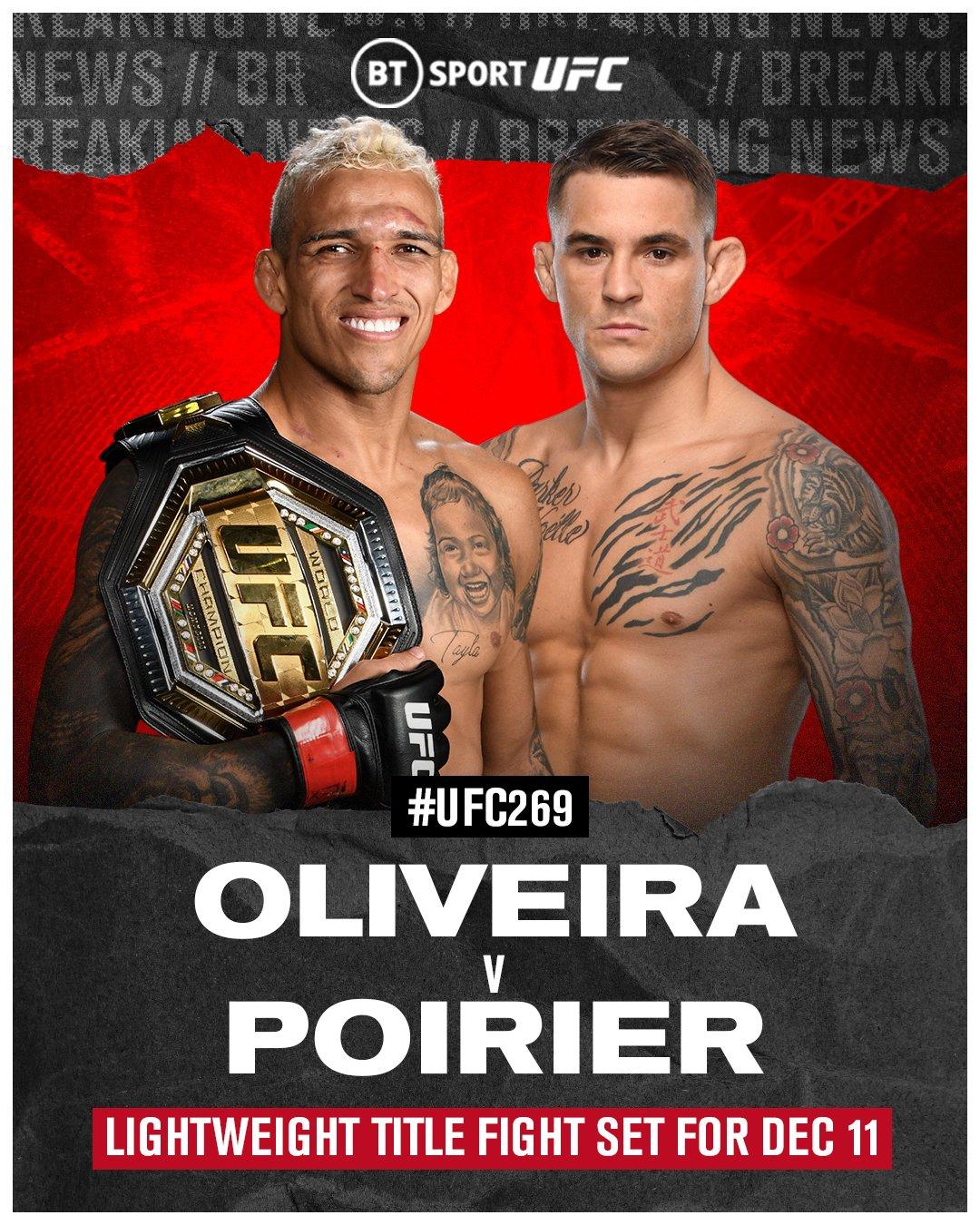 Trận tranh đai vô địch giữa Oliveira (phải) với Poirier đang làm nức lòng làng MMA thế giới.