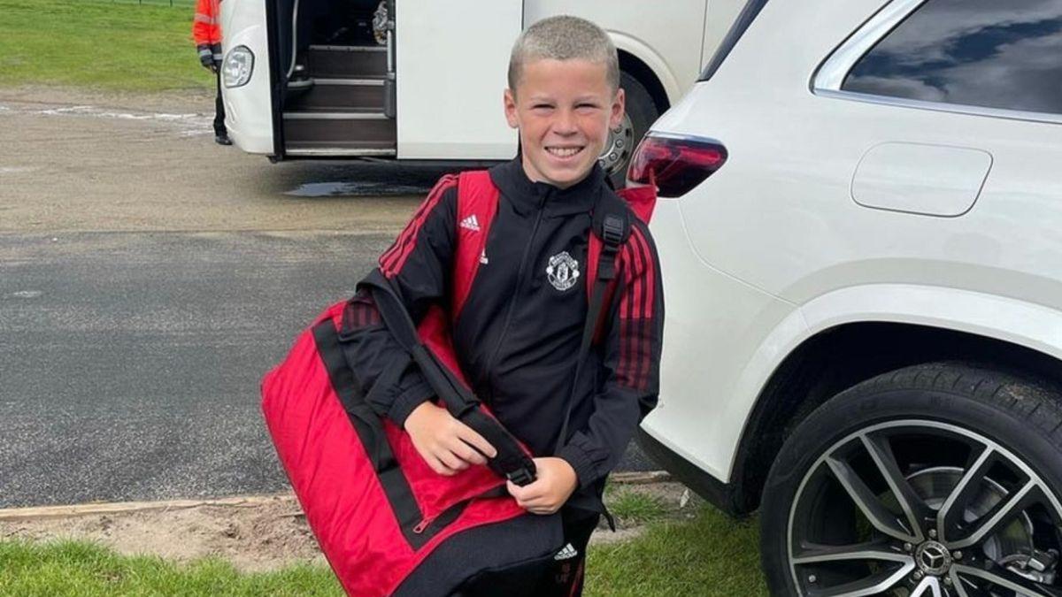 Kai Rooney là ngôi sao ở đội U12 Man Utd. Ảnh: Instagram / Kai Rooney