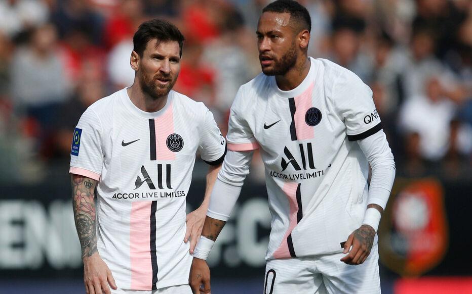 Neymar mờ nhạt trong trận PSG thua Rennes 0-2 hôm 3/10. Ảnh: Reuters