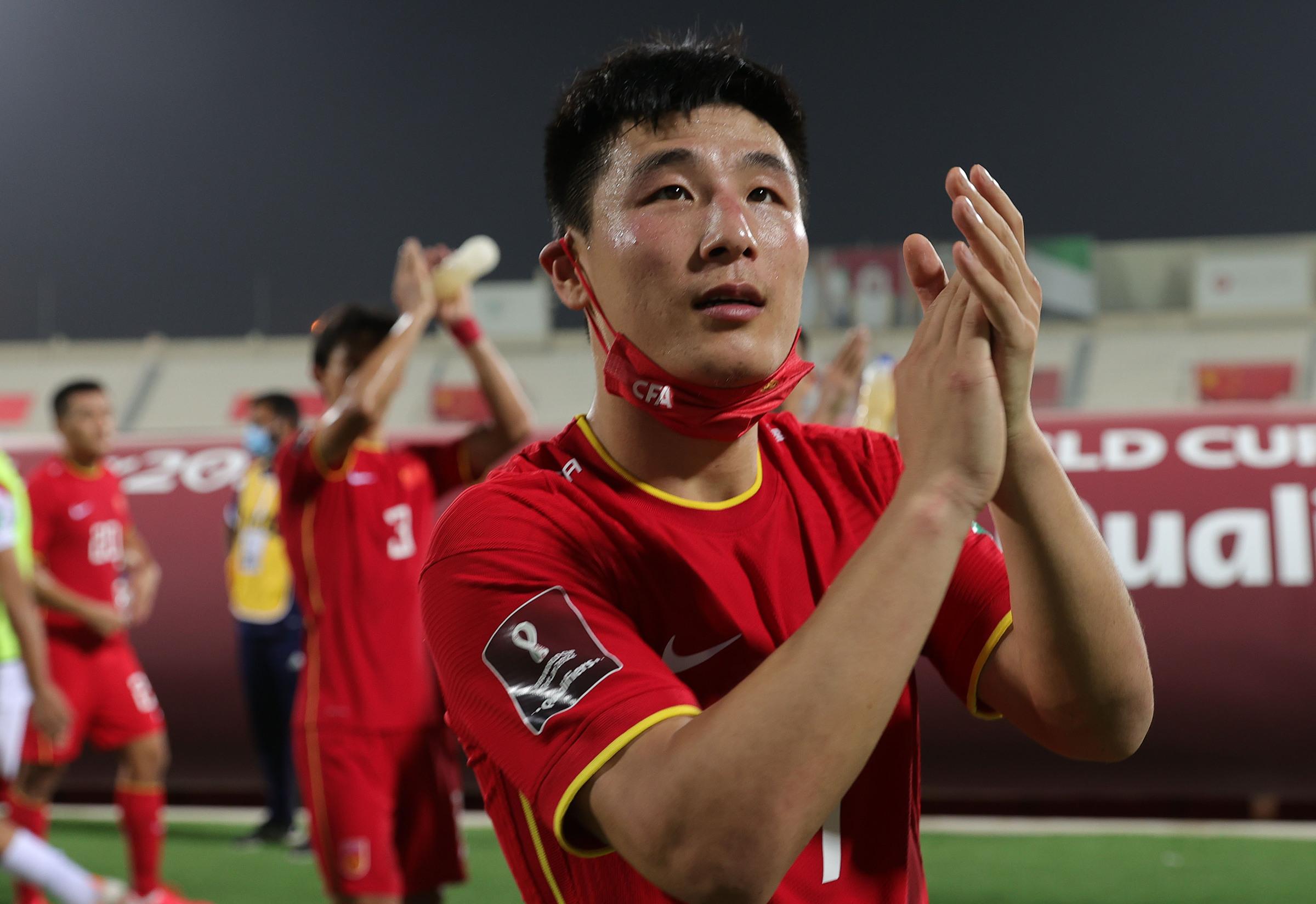 Wu Lei là chân sút số một của tuyển Trung Quốc tính từ đầu vòng loại World Cup 2022, với tám bàn. Ảnh: Reuters