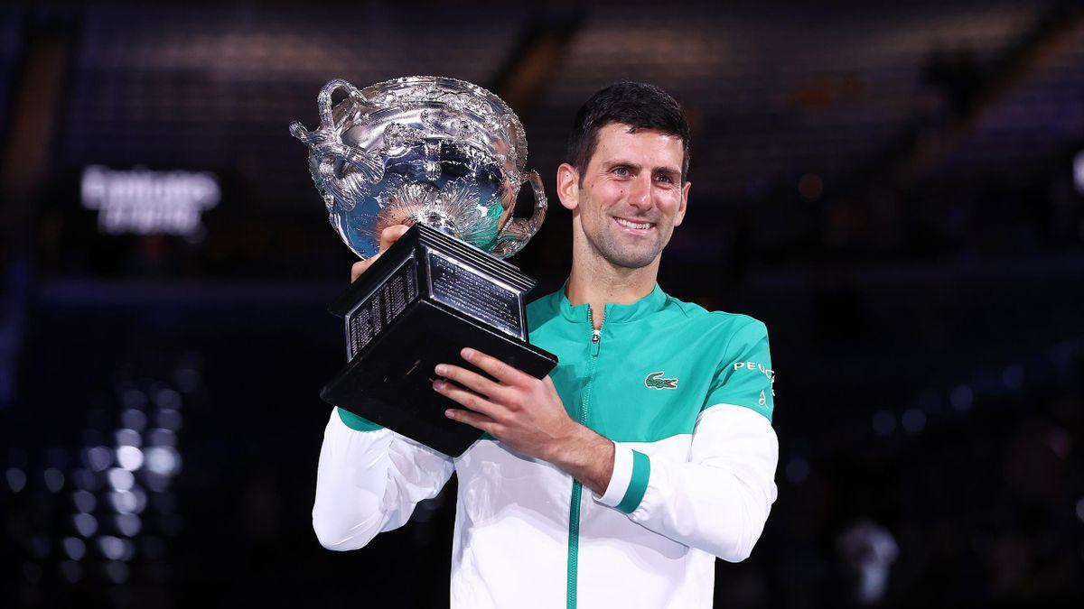Djokovic là đương kim vô địch và giữ kỷ lục toàn thắng chín trận chung kết Australia Mở rộng. Ảnh: Tennis Australia