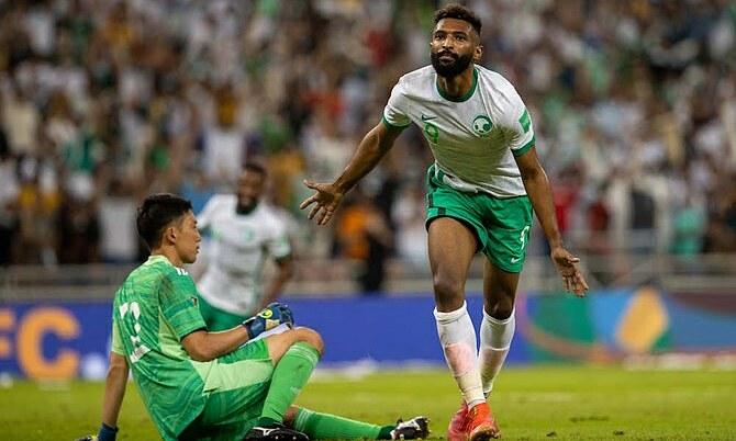 Birakan mừng bàn duy nhất trận đấu. Ảnh: Arabnews