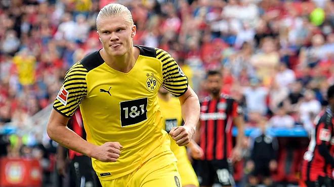 Haaland đang sở hữu tỷ lệ ghi trung bình một bàn/trận cho Dortmund. Ảnh: EFE.