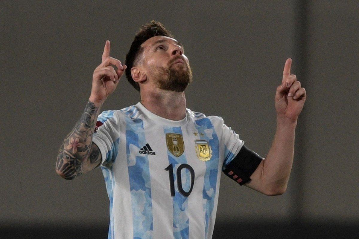 Messi ghi bàn thứ 80 trong màu áo ĐT Argentina. Ảnh: Sky