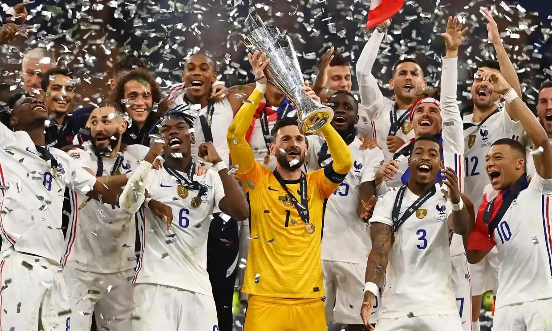 Pháp là quốc gia thứ hai vô địch Nations League. Ảnh: AFP