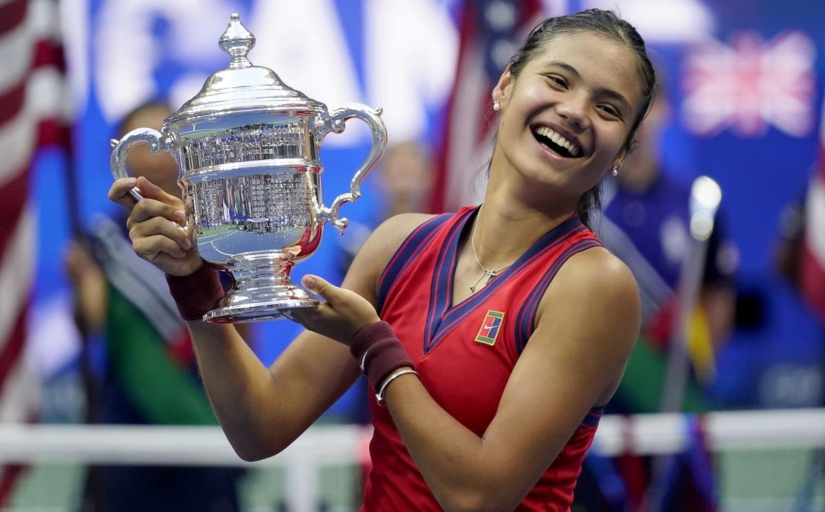 Raducanu là tay vợt nữ đầu tiên của Anh vô địch Grand Slam trong 44 năm. Ảnh: US Open
