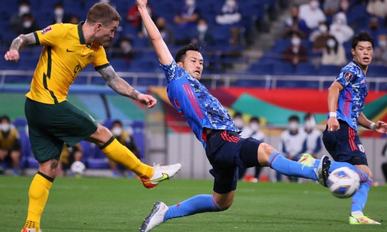 Australia nhận thất bại đầu tiên ở giai đoạn ba, vòng loại World Cup 2022. Ảnh: Mainichi.