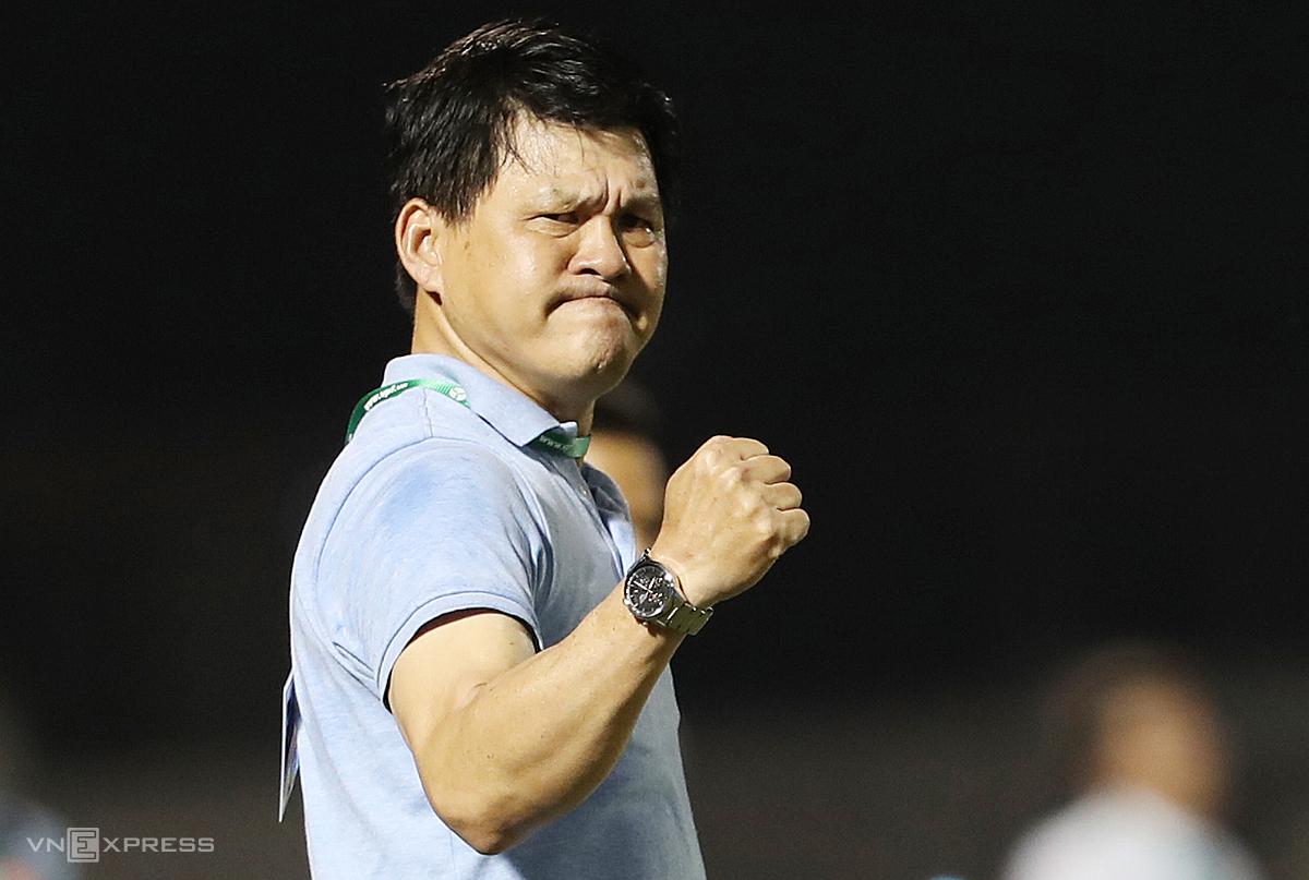 Cựu HLV CLB Sài Gòn đánh giá cao sự tiến bộ của Việt Nam sau ba trận đấu ở vòng loại. Ảnh: Đức Đồng