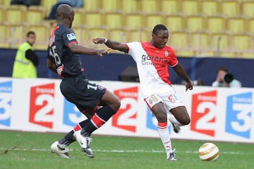 Adu trong màu áo Monaco mùa 2008-2009. Anh đá chín trận tại Ligue 1 mùa đó, nhưng không được ký hợp đồng chính thức. Ảnh: PA Images