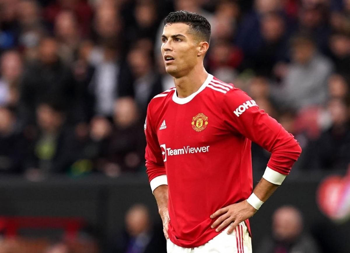 Ronaldo ghi năm bàn trong sáu trận cho Man Utd kể từ khi trở lại, nhưng anh vẫn không được đánh giá cao ở khả năng gây áp lực khi hậu vệ đối phương có bóng. Ảnh: Reuters