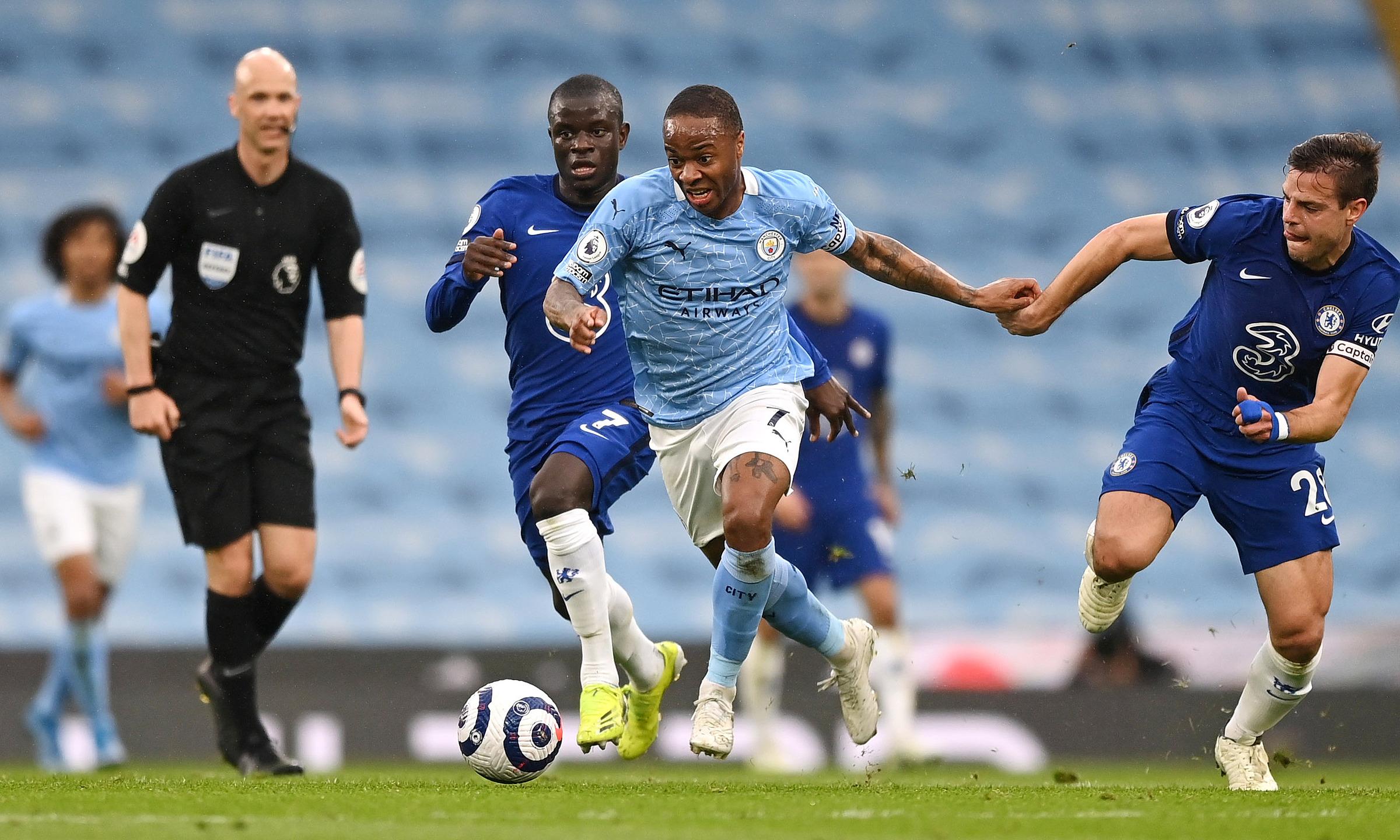 Sterling trưởng thành từ học viện của QPR trước khi sang Liverpool, rồi chơi đỉnh cao từ 2012 trong màu áo CLB thành phố cảng và Man City từ 2015. Ảnh: Reuters